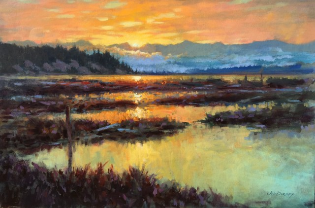 18 - Dawn of the Endless Summer, Iverson Beach - 24x36