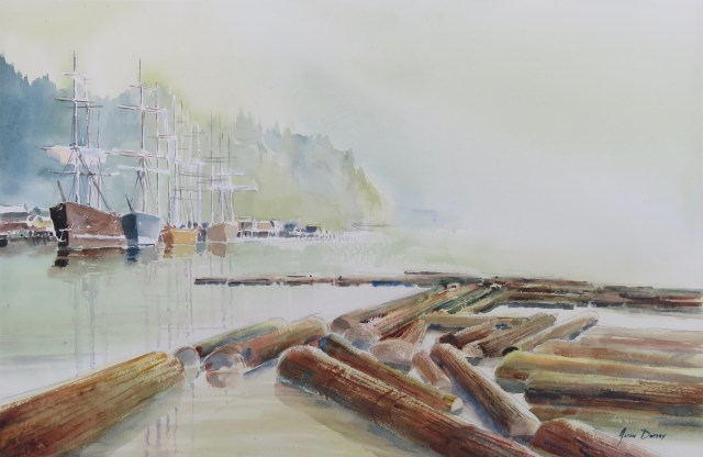 Logs in harbor
