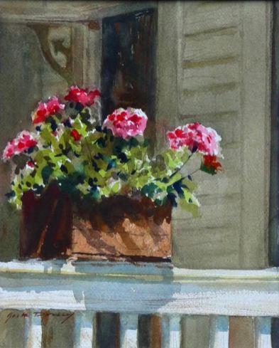 Back Porch Geraniums