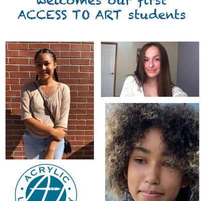 Acrylic University welcomes its first Access to Art Students!