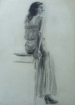 Sayre Cooney Side view of seated Young Lady