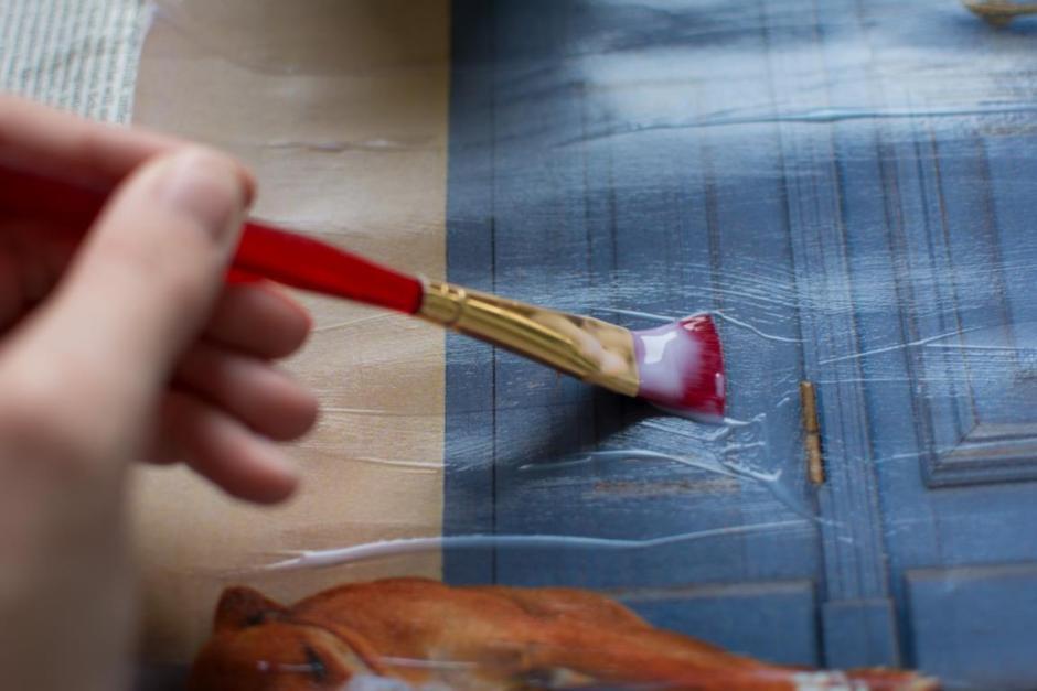 Bild auf Leinwand drucken Pinsel