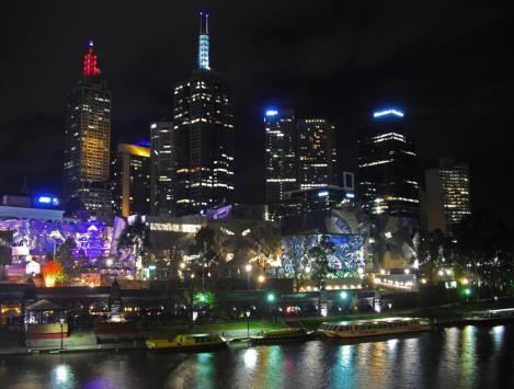 Melbourne Tipps Skyline bei Nacht