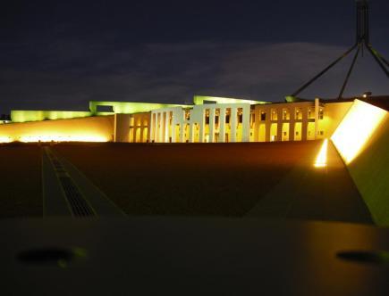 Roadtrip Australien Parlament Canberra
