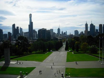 Melbournes Sehenswürdigkeiten Skyline