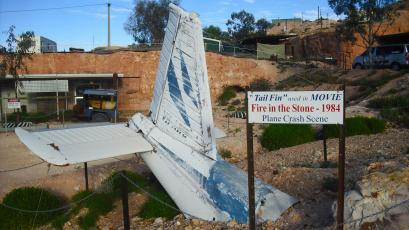 Roadtrip Australien Coober Pedy Flugzeug
