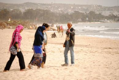 Reise Tunesien Händler Strand