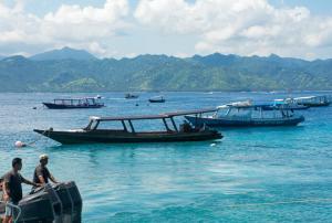 Gili Air Anreise: Boote auf den Gili Inseln