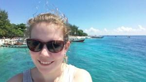 Gili Air Anreise und ein Selfie vor Gili Trawangan