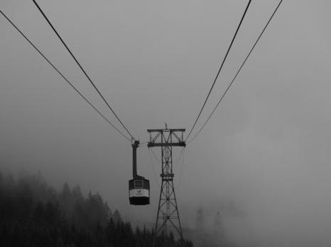 Die Nebelhornbahn im Nebel