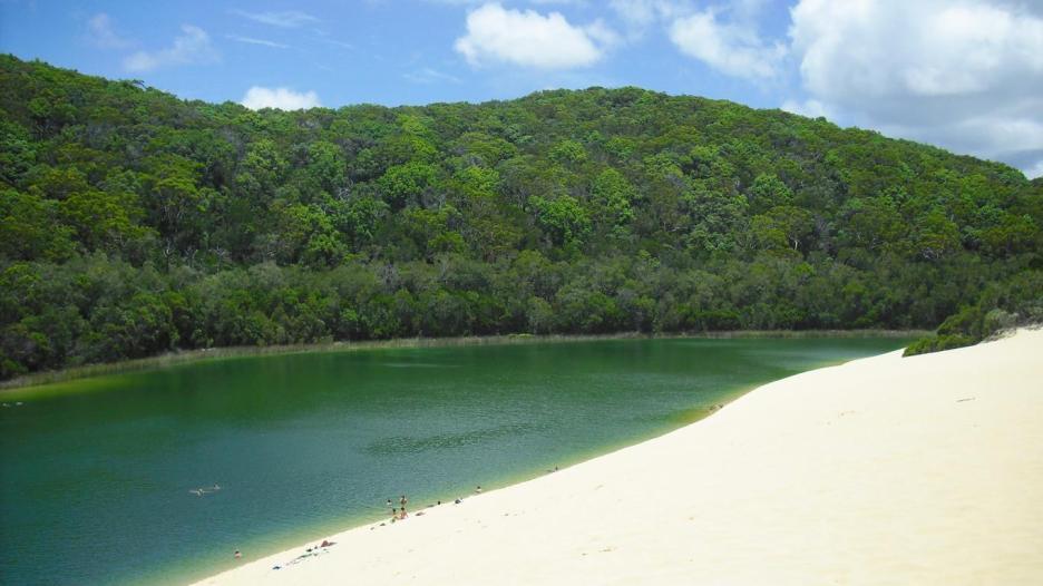 Australische Inseln Ostküste Lake Wabby und die Sanddüne