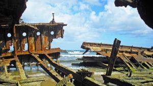 Australische Inseln Ostküste Das Schiffwrack Meheno auf Fraser Island