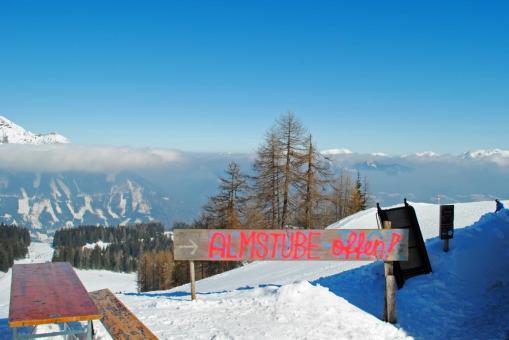 Hinterstoder Österreich Skigebiet Almhütte