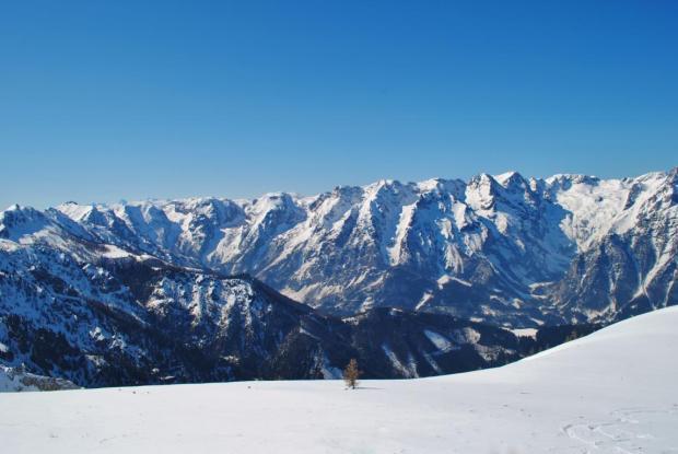 Skifahren in Hinterstoder Österreich Panorama