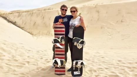 sandboarding südafrika alexandria coastal dunes
