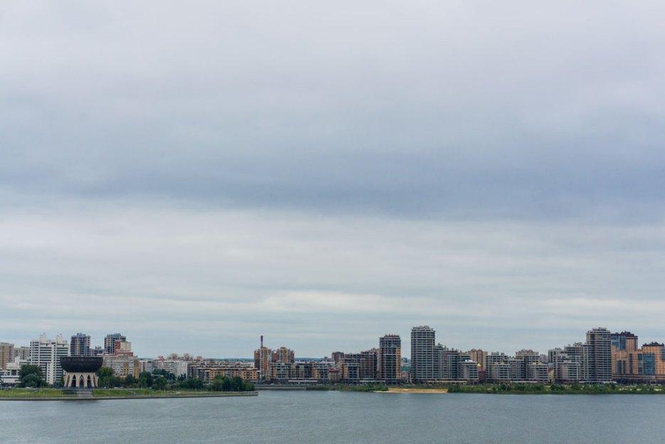 Aussicht Kazanka Fluss Kasan