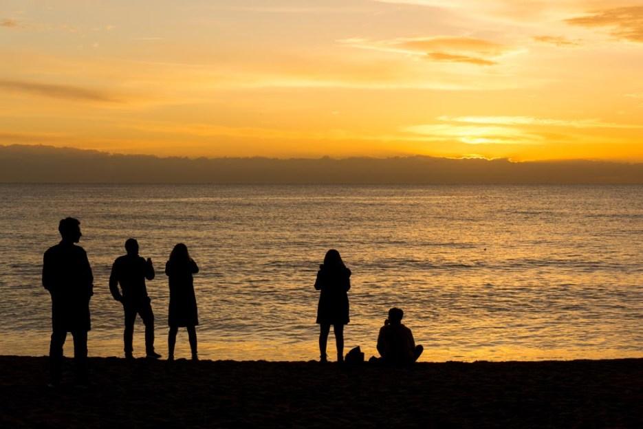 Kurztrip Barcelona Barceloneta Sonnenaufgang