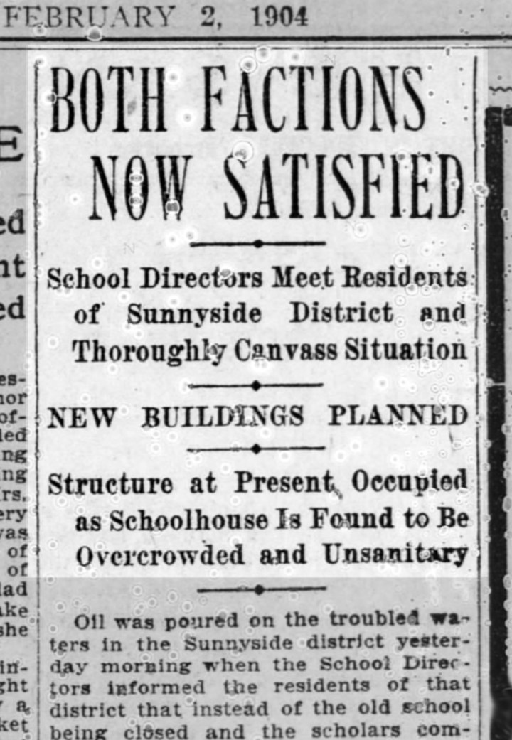 """Both Factions Now Satisfied"" SF Call, 4 February 1904. From newspapers.com."