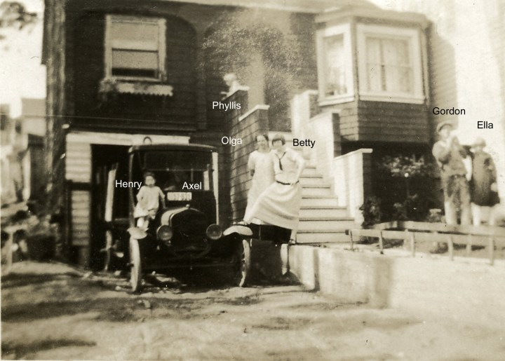 The Jensens in front of their house at 511 Congo Street, late 1920s. Photo courtesy Judith Simpson.