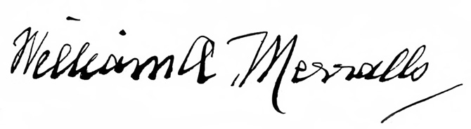 William A. Merralls signature in 1908, from his first wife Lizzie A. Merralls' probated will.
