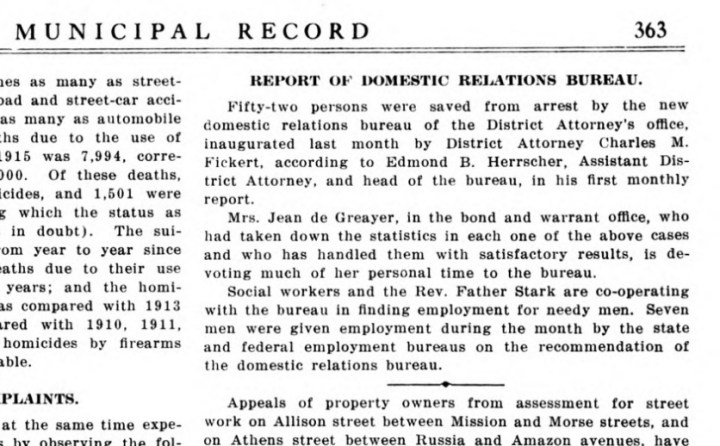 SF Municipal Record, 16 Nov 1916, p363.