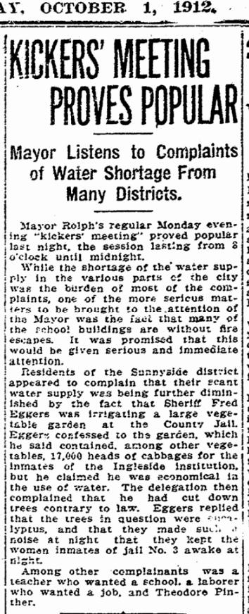 1912Oct01-Chron-p4-Sunnyside-water-shortage-InglesideJail