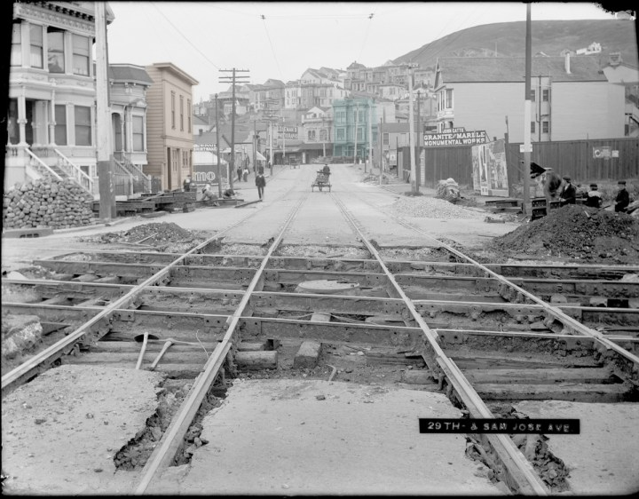 1904, Twenty-ninth Street between San Jose and Mission. Photo courtesy SFMTA sfmta.photoshelter.com.