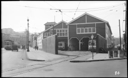 1928 Valencia Car house, Tiffany Ave on right. Courtesy SFMTA http://sfmta.photoshelter.com