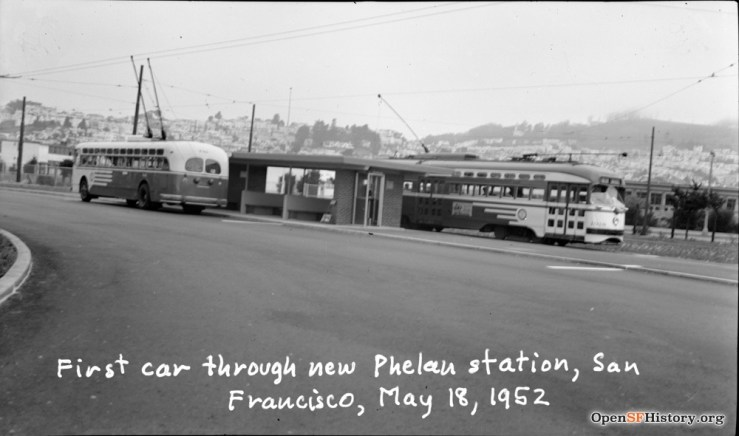 1952May18-First-car-Phelan-Loop_wnp14.2459