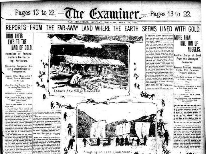 1897Jul18-SFExaminer-Klondike-fever