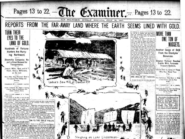 1897Jul18-SFExaminer-Klondike-fever