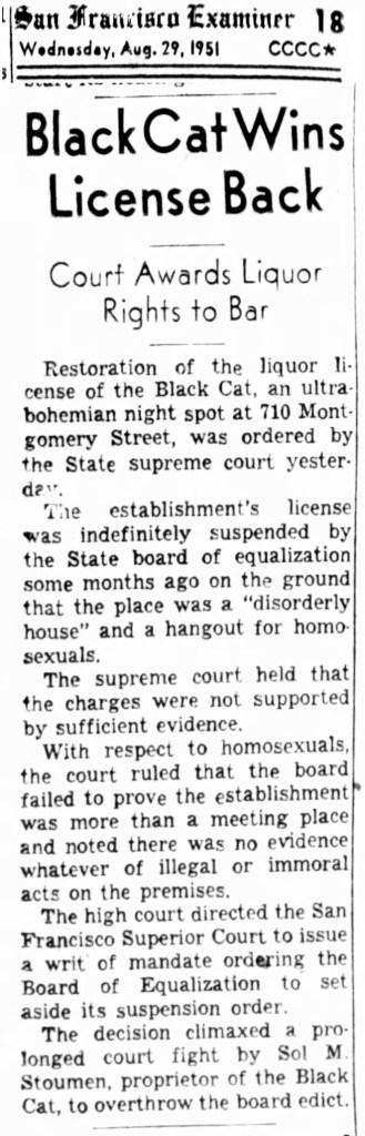 1951Aug29-Examiner-Black-Cat-wins-Stoumen
