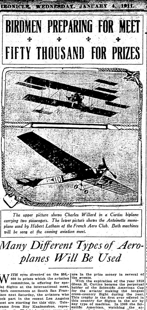 1911Jan04-Chronicle-Birdmen-prepare