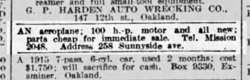 SF Examiner, 12 Dec 1915. Newspapers.com.