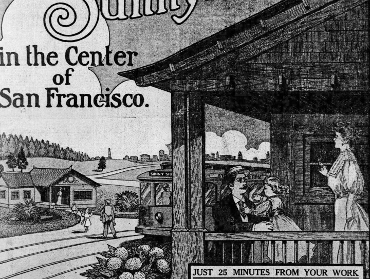 SF Call, 3 June 1909. Portion of four-page Sunnyside color supplement. Newspapers.com.
