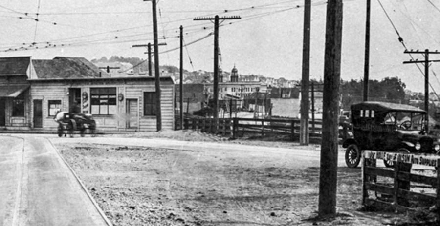 1919. Monterey toward Diamond. OpenSFHistory.org