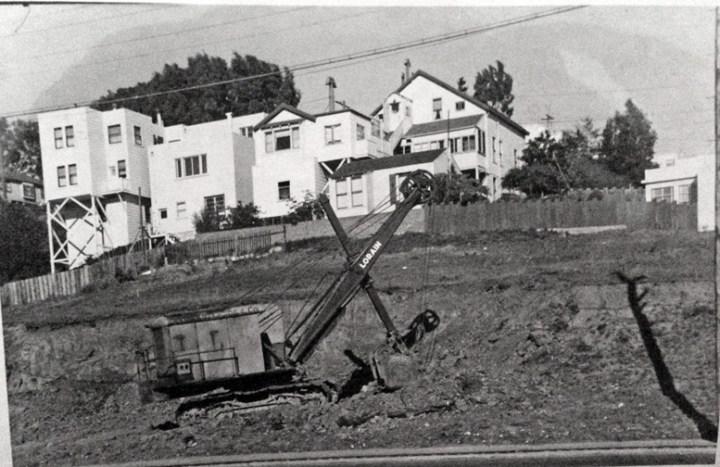 1949c. Excavation for Tony Molinari's service station, 300 Monterey Blvd. Photo courtesy Michelle Molinari.