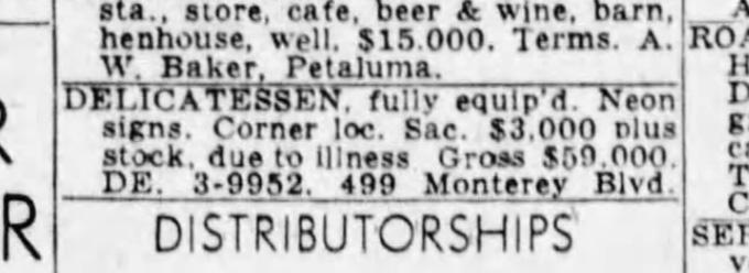 SF Examiner, 3 Jan 1953.