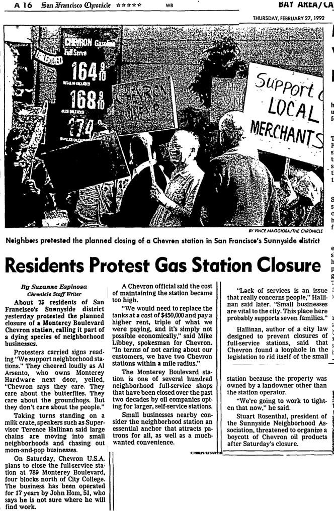SF Chronicle. 27 Feb 1992.