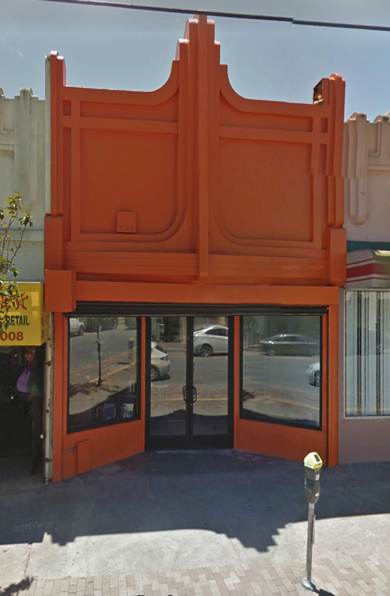 Storefront at 25 Leland Ave, SF. Google streetview.