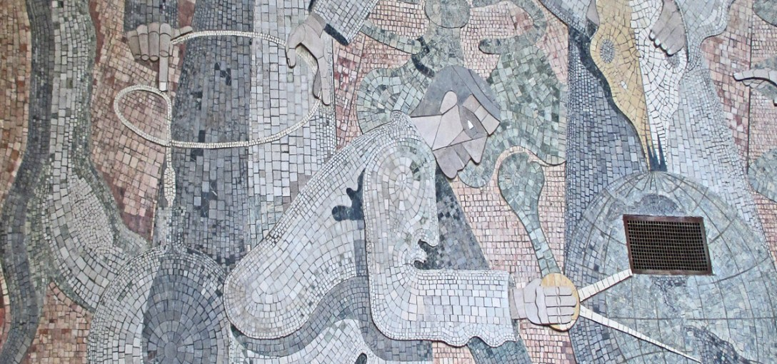 Herman Volz mosaic mural, City College of San Francisco. Photo: Amy O'Hair.
