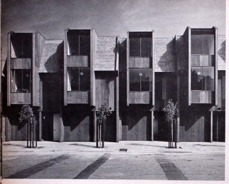 Architectural Record, January 1968. 671-677 Connecticut Street, just built. Designed by Jonathan Bulkley.