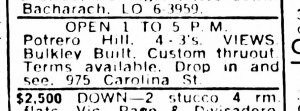 SF Examiner, 25 Nov 1965. 975 Carolina Street.