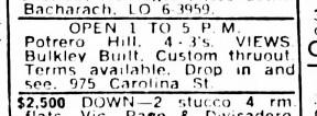 SF Examiner, 25 Nov 1965. 975 Carolina Street.