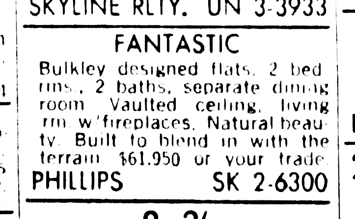 SF Examiner, 3 Feb 1964. For 375-377 Diamond Street.