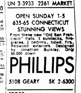 SF Examiner, 26 Jul 1964. For 635-665 Connecticut.