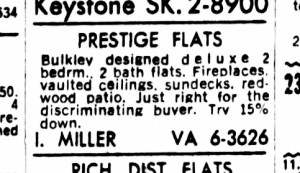 SF Examiner, 2 Jul 1965. For 375-377 Diamond Street.