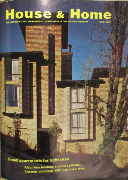 House and Home, June 1967, cover image. 300 Hill Street, built 1965. Designed by Bulkley.