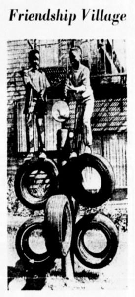 SF Examiner, 29 Jun 1971. Play structure at Friendship Village.