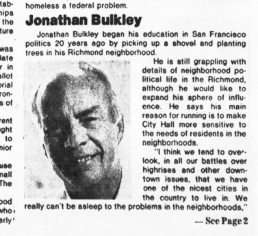 SF Examiner, 31 Oct 1984.